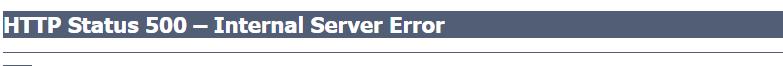 HTTP Status 500 – Internal Server Error...